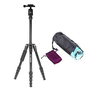 Andoer Trépied en aluminium réglable Portable Rotule pour Canon Nikon Sony DSLR Triopo MT-2205 + KJ-1S