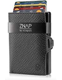 ZNAP Kreditkartenetui mit Geldklammer Aluminium und Münzfach – RFID Schutz – 8 oder 12 Karten Version – Slim Wallet – Geld Clip von SLIMPURO