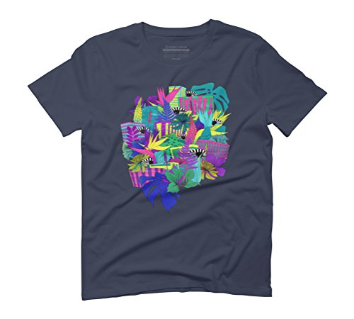 the city is a jungle Men's Graphic T-Shirt - Design By Humans Navy