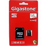 Perixx-Gigastone Micro SDHC Card 16GB Class 4 - Original SanDisk Chip - With SD Adapter
