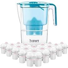 BWT Tischwasserfilter Vida 2,6l petrol; Jahrespackung 12+1 Kartuschen, angereichert mit wertvollem Magnesium für höchste Vitalität