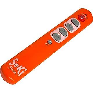 SeKi Slim orange lernfähige Universal-Fernbedienung mit großen Tasten - für Senioren + Kinder