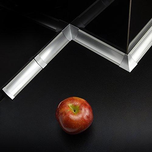 [DQ-PP] 3m Winkelleisten Aluminum matt für Küchen 23mm x 23mm Arbeitsplatten Grundprofil...