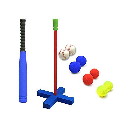 duhe189014 Baseball Outdoor-Kinder weiche Blase T-Ball Baseball-Set Spielzeug Trainingsübung, um die Gefühle von 8 Balls zu erhöhen (Baseball-haut)