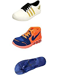 Jabra Perfect Combo Pack Of 2 Shoes- Sneakers And Loafers & Slippers For Men In Various Sizes