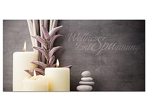 Acrylglasbild Wandbild Acrylglas für Badezimmer Spruch Wellness Entspannung