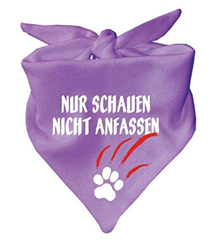 Hunde Dreiecks Halstuch (Fb: lila) Nur schauen nicht anfassen