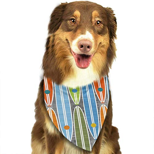 nxnx Pet Dog Bandana Scarf Pack Triangle Bibs Rainbow Surfboards Printing Kerchief Set Accessories for Small to Large Dogs Cats Pets