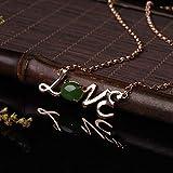SanQ-Seven Colgante de Plata de Ley 925 con Collar de Amor con Jaspe...