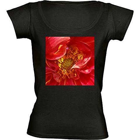 Camiseta Cuello Redondo para Mujer - Pétalos Rojos by feiermar