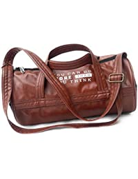 Maharth Gramin Udyog Imitation Leather Duffle Luggage/Travel/Gym Bag (Brown)