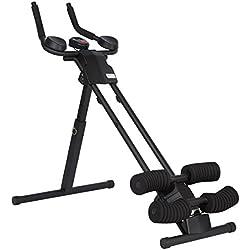 Ultrasport Aparato de abdominales Ultra 150 Curved - Fitness Power AB Trainer Aparato de abdominales que ocupa poco espacio para aumento de la masa muscular, hacer fitness y como apoyo para la reducción de peso. Todo en un solo aparato