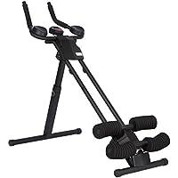 Ultrasport Trainer addominali Ultra 150 Curved, Fitness Power AB Trainer. Attrezzo per addominali non ingombrante per potenziare i muscoli, allenarsi e supportare una dieta dimagrante, tutto in un unico attrezzo