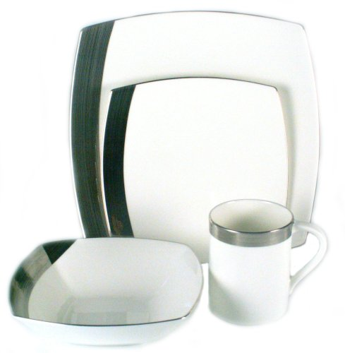 Mikasa Ridge (Mikasa Ridge Square Platinum 4-Piece Place Setting, Service for 1 by Mikasa)