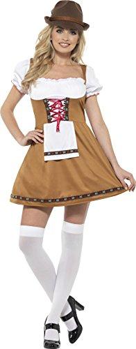ayerische Bier Dienstmädchen Kostüm, braun, M–UK Größe 12–14 (Bier Wench Kleid)
