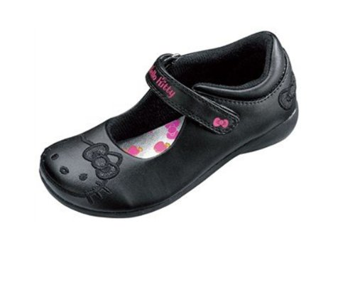 Girls Back To School HELLO KITTY Wagtail Strap Black Shoe Size 6
