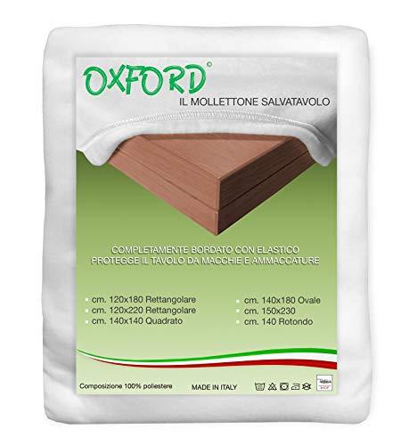 MOLLETTONE SALVATAVOLO SOTTOTOVAGLIA PROTEGGI TAVOLO BIANCO - Cm.140x180 ovale