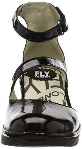 FLY London Plan717, Escarpins Femme Noir (Black 009)