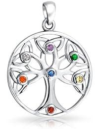 Bling Jewelry Plata Esterlina Lujo CZ Abierto Colgante Árbol de la Vida