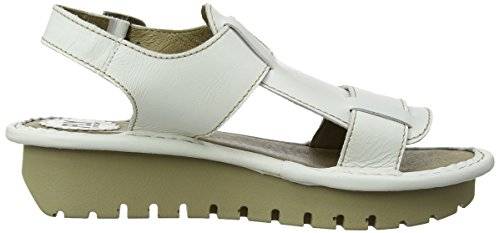 Fly London - Kani, Ankle-Strap Donna (Off White (Offwhite))