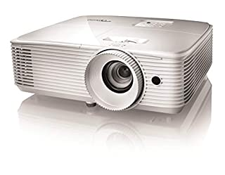 "Optoma HD27e - Proyector (3400 lúmenes ANSI, DLP, 1080p (1920x1080), 25000:1, 16:9, 711,2 - 7645,4 mm (28 - 301"")) (B078YKVZRR) 