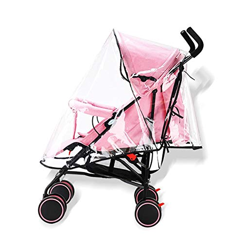 circulor Regenschutz Kinderwagen, Kinderwagen Abdeckung Regen Komfort Baby Universal Für Kinderwagen PVC Wasserdicht Winddicht Staub Regenschirm Abdeckung Zubehör Reißverschluss