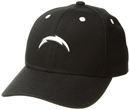 NFL by Outerstuff Boys' NFL Youth Black and White Structured Adjustable Hat