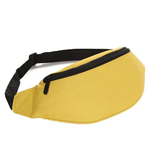 Ohmais Rücksack Rucksäcke Rucksack Beutel Schultasche Banane Leinwand für junge éudients Schülerin gelb