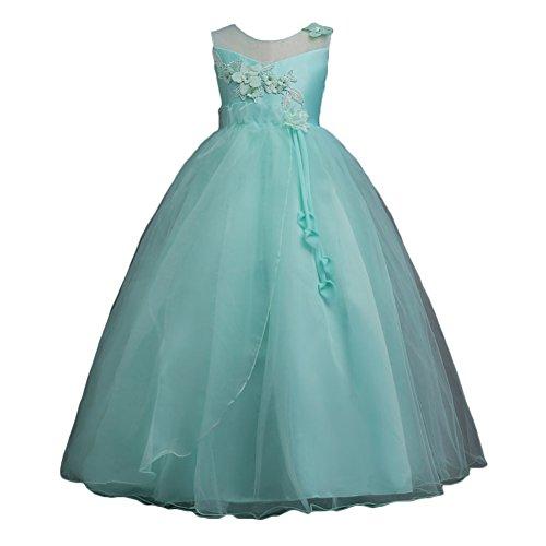 Mädchen Kleid Hochzeitkleid - Juleya Sweet Prinzessin Lace Blumenmädchenkleider für Hochzeits Brautjungfern Festzug Partei Festliches (Kostüm Baby Link Muster)