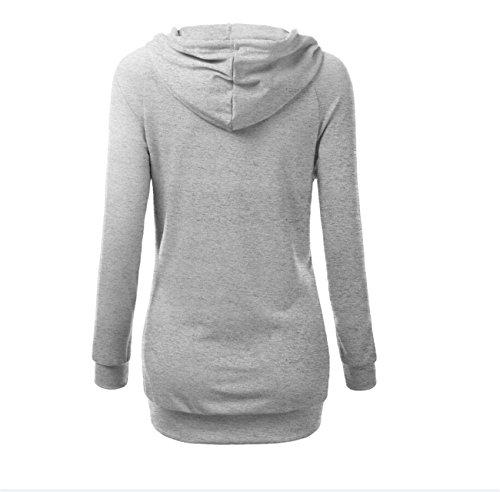 YL - Sweat-shirt - Femme Gris