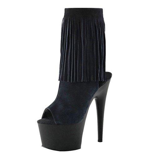 Heels-Perfect , chaussures compensées femme Noir