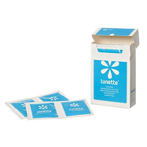 Lunette CupWipe Reinigungstücher für Menstruationstassen (10 Stück)