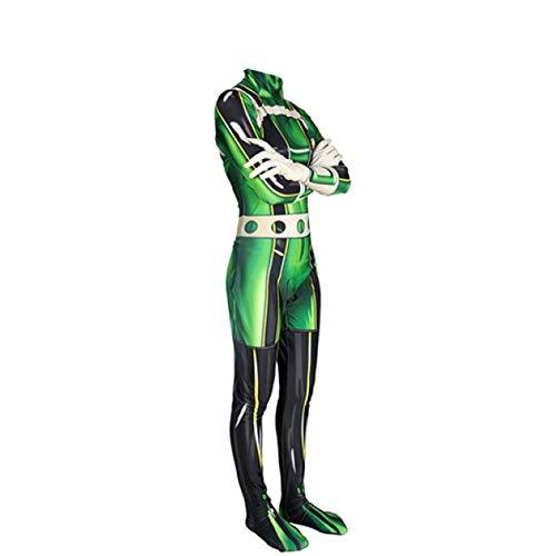 KOUYNHK Erwachsene Kinder My Hero Academia Frosch Bläst Pflaume Regen Kostüm Cosplay Kostüm Zentai Superheld Body Anzug Overalls,Women-XXXL (Regen Anzug Kostüm)