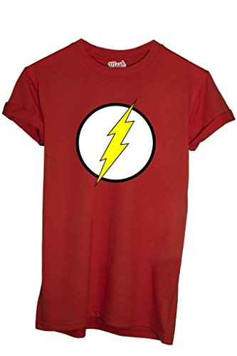 T-Shirt FLASH GORDON LOGO - CARTOON by iMage Dress Your Style - Uomo-XXL-ROSSA