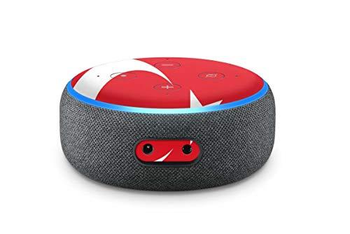 Skins4u Aufkleber Design Schutzfolie Sticker kompatibel mit Amazon Echo Dot 3.Generation Türkei Rot
