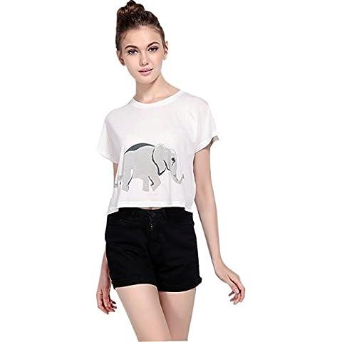 Stile di personalità Elephant T-shirt Tee Maglietta