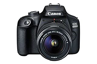 Canon EOS 4000D DSLR Camera and EF-S 18-55 mm f/3.5-5.6 III Lens - Black (B07B199LGK) | Amazon price tracker / tracking, Amazon price history charts, Amazon price watches, Amazon price drop alerts