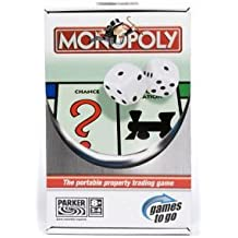 Hasbro Parker Games to Go Travel Monopoly The Portable Propery Trading Game