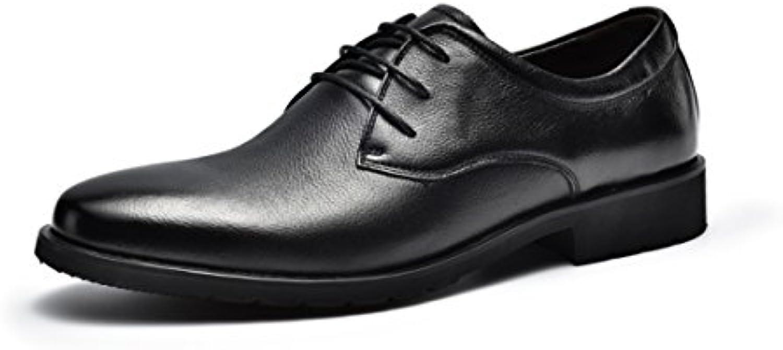 ZFNYY Geschäftsleute Binden Derby Schuhe  Um Echtes Leder zu Helfen