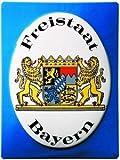 0816. Schild ARTDECO Freistaat Bayern