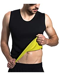 NOVECASA Chaleco Sauna Hombre Neopreno Camiseta sin Mangas Trajes Sauna Body Shaper Transpirar Gimnasia para Quema Grasa, Faja Abdome Adelgaza (L, Chaleco)