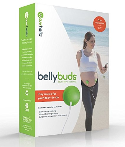 BellyBuds, Pregnancy Baby-Bump Headphones | Prenatal Bellyphone Speakers Play Music, Sound and Voices to the Womb, by WavHello