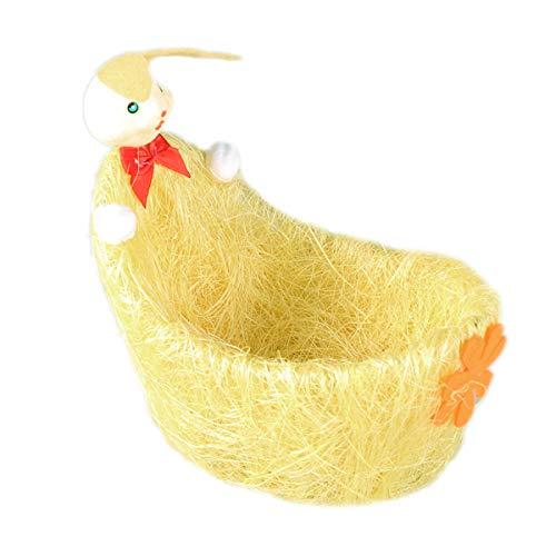 Easter Baskets Osterei-Korb-Süßigkeitskorb mit Kaninchen- und Blumen-Dekoration ()