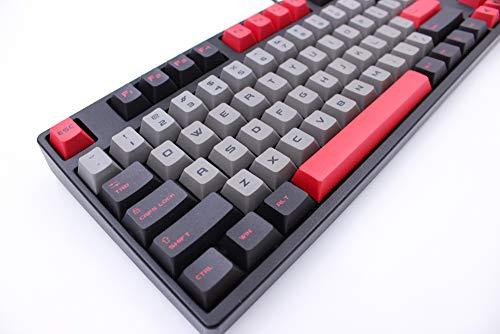Onecap DIY Keycap rot & schwarz personalisiert Keycap Cherry PBT Dye-Subtion 170 Keycaps Cherry Factory Höhe für mechanische Gaming-Tastatur Schwarz/Grau 169 Keys