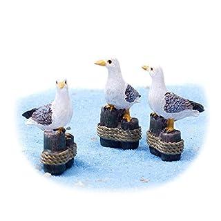 Danmu Art 3pcs Mini Resin Seagulls Miniature Plant Pots Bonsai Craft Micro Landscape DIY Decor