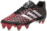 adidas Adipower Kakari SG Chaussures de Rugby Homme, Noir Negro (Negbas/Plamet/Rojimp), 43 1/3 EU