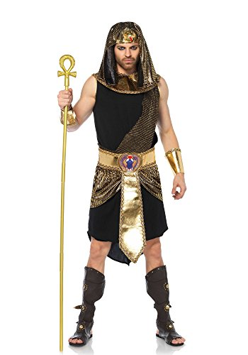 eilig ägyptischer Gott, Männer Karneval Kostüm Fasching, M/L, schwarz/gold (Rock Gott Kostüm)