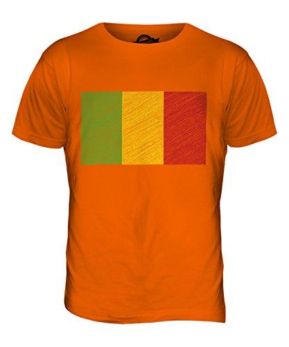 CandyMix Mali Kritzelte Flagge Herren T Shirt Orange