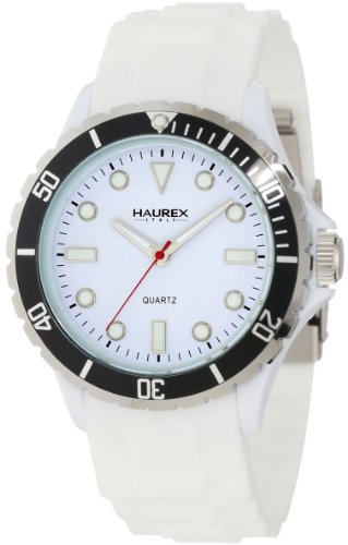 Haurex Italy Men's Sport.W2 Sport Rotating Bezel Blue Soft Rubber Watch