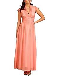 Lange Damen Kleider Chiffon Abendkleider Ballkleider Brautjungfern Elegante Maxikleider